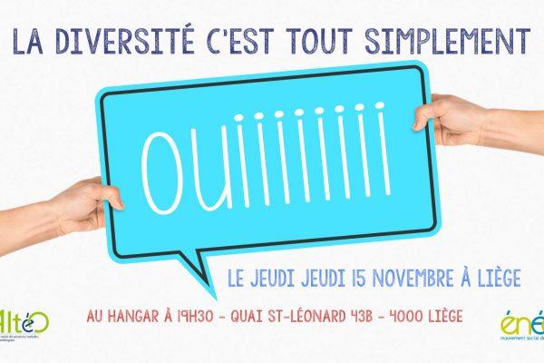 15/11 – Rencontre I  La diversité c'est oui !