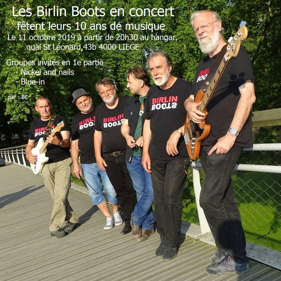 Concert | Birlin Boots 10 ans – 11 octobre 20h30